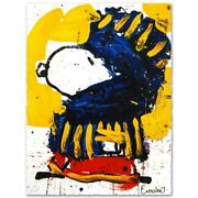 Tom Everhart Signed March Vogue Lithograph Charles Schulz Peanuts Snoopy Coa