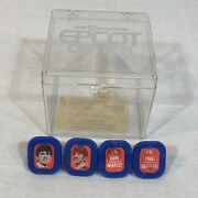 Vintage 1960andrsquos The Beatles Blue Flasher Flicker 4 Rings Set Souvenir Made In Usa