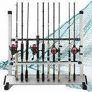 Luxhmox Fishing-holder Stand Holds Up To 24 Rod-rack For All Types Of Rods An...