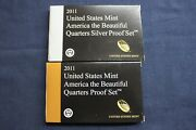 2011 Silver And Clad America The Beautiful Proof Quarter Sets Ogp And Coaand039s