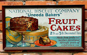 Circa 1920 United Biscuit Co. Trolley Car Advertising Sign. Fruit Cakes.