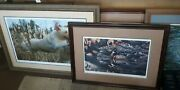 """Ducks Unlimited """"working Lab"""" Jay Kemp And Others Prints Lot Of 6"""