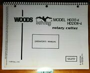 Woods Hd315-4 Hd210r-4 Batwing Rotary Cutter Mower Owner Operator Parts Manual
