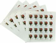 Lot Of 5 2017 Celebration Boutonniere Sheets = 100 Forever Stamps Scott 5199