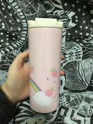 New 2019 Starbucks 12oz Strawberry Raccoon Thermos Stainless Steel Cup In Stock