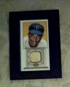 2009 Topps 206 Framed Game Used Bat Relic Mini Old Mill Jackie Robinson Fr-24