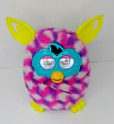 Hasbro Furby Boom 2013 Pink Cubes White Purple Talking Tested Works
