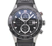 △ Tag Heuer Carrera Heuer 01 Car201z Chronograph Automatic Menand039s Watch M1...