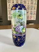 Antique I.e. And C. Co. Made In Japan Gold Raised Hand-painted Porcelain Vaseandnbsp