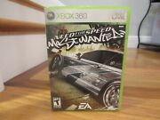 Need For Speed Most Wanted Microsoft Xbox 360, 2005 Disc, Case And Manual