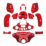 Abs Fairing Bodywork Kit Fit For Harley Touring Street Glide 14-21 18 Wicked Red