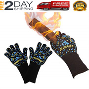 New Gloves Bbq Grill Firepit Oven Mitts Heat Resistant 932 Degrees F Professiona