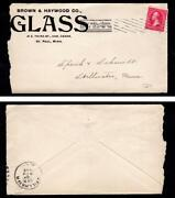 Advertising Brown And Haywood Glass September 4 1896 St. Paul Mn