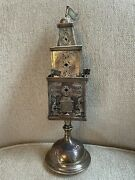 Beautiful Antique Silver Jewish Spice Box--19th Century Eastern Europe 12 High