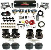 Complete 1/2 Valve Air Ride Suspension Kit 8 Gal Tank For 1971-96 Chevy B-body