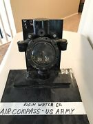 Rare Elgin Watch Co Ww2 Us Army Type A Air Compass Aircraft Navigation Exc Cond