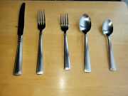 Longaberger 5 Piece Woven Traditions Flatware Silverware Lightly Used. Free Ship