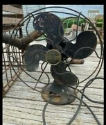 """Antique Emerson B-jr 1930's Electric 10"""" Oscillating Two Speed Fan Working"""