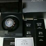 Seiko Astron Sbxb055 Day Date Box World Time Gps Solar Mens Watch Auth Works