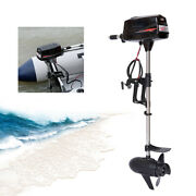 48v 2.2kw Electric Brushless Outboard Motor Inflatable Fishing Boat Engine New