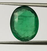 3.65 Ct Certified Natural Emerald Oval 11x9 Mm Loose Bottle Green Color Gemstone