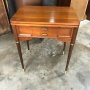 Mcm Side Table Singer 401a Sewing Machine With Flip Top Mid Century