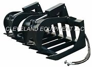 New 60 Md Root Grapple Attachment Skid-steer Loader Bucket Rake Tine Holland