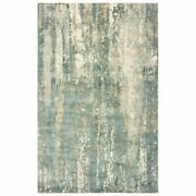10 X 14 Blue And Gray Abstract Splash Indoor Area Rug