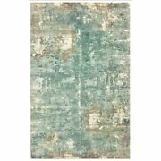 10 X 14 Blue And Gray Abstract Pattern Indoor Area Rug