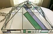 Red Bank Artisan Contemporary Version Of Style Stained Glass Chandelier