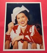 Patsy Cline Western Wear Cowgirl Outfit Full Color Photo Fan Club Info On Back