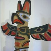 Pacific Northwest Coast Inuit William Bill Kuhnley 16 Carved Totem Pole