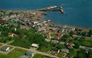 Digby Ns Canada Aerial View Town Waterfront Ss Princess Helene Ferry Postcard