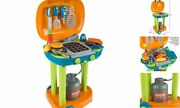 Bbq Grill Toy Set- Kids Dinner Playset With Realistic Sounds And Grate Lights