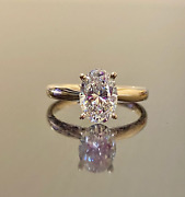 18k Yellow Gold Certified Natural 2.25 Carat Diamond Ring For Girland039s Womens