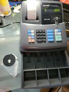 Sharp Xe-a106 Electronic Cash Register With Register Key And Drawer Key Tested