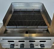 24 Vulcan Char-broiler Grill Cast-iron Radiant Nat Gas 4 Burners New Pilots