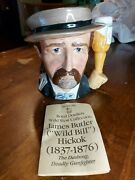 1984 Royal Doulton Wild West Wild Bill Hickock Character Toby Jug D6736