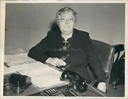 1943 Mary Anderson Womens Division Us Dept Labor Antique Phone Photo 7x9