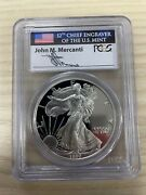 1997 P Proof American Silver Eagle Pcgs Pr 70 Dc Mercanti Signed