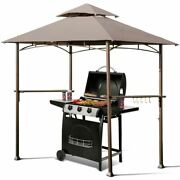 Modern 8' X 5' Outdoor Barbecue Grill Gazebo Canopy Tent Bbq Shelter