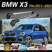 Fits Bmw X3 2011-2021 Suv Top Roof Rack Cross Bar Baggage Luggage Carrier Bar