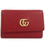 6 Series Key Case Petit Mant Gg Red Leather 456118