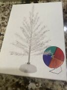 Aluminum Christmas Tree With Color Wheel Greeting Cards.