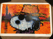 Tom Everhart Signed Snoopy Guy In A Sharkskin Suit Charles Schulz Peanuts Coa