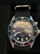 Orient Men's Blue Ray Watch With Black Strap