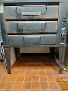 Blodgett 931 Natural Gas Double 2 Deck Pizza Oven