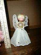Vintage Angel Tree Topper - With Glass Or Plastic Globe - Collection Sale