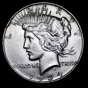 Au / Unc 1934-d Peace Silver Dollar Lowest Prices On The Bay