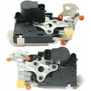 For Chevy Tahoe Door Lock Actuator 2001-2006 Lh And Rh Pair / Set Front W/ Latch